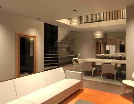Kitchen Dining Stairs- High- artificial